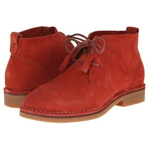 HUSH PUPPIES Cyra Catelyn Suede Booties sz 8.5